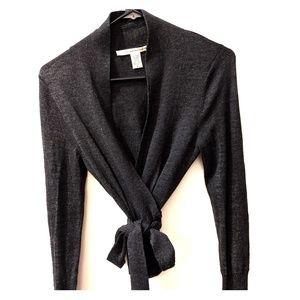DIANE VON FURSTENBERG 100% Merino Wrap Sweater